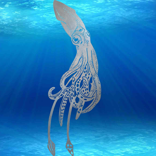 WA10057 - Giant Squid with Water Background
